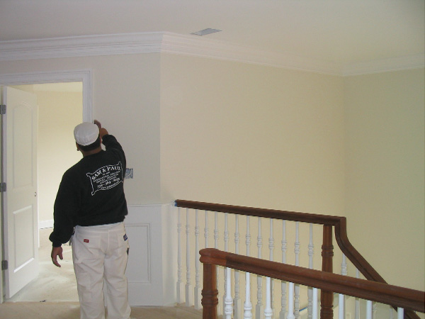 Rolling The Walls In Family Room