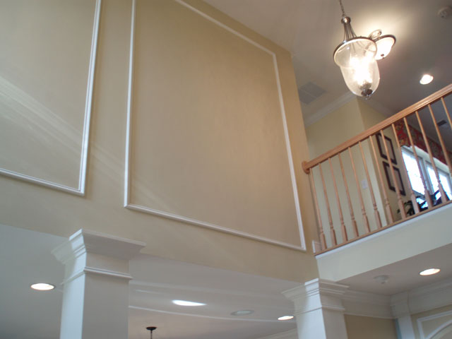 Model Home Foyer Pictures : Custom interior painting and stain in chatham grande heritage pint